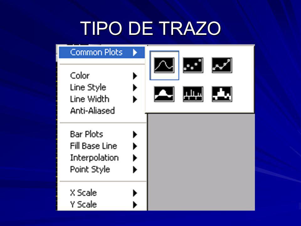 TIPO DE TRAZO