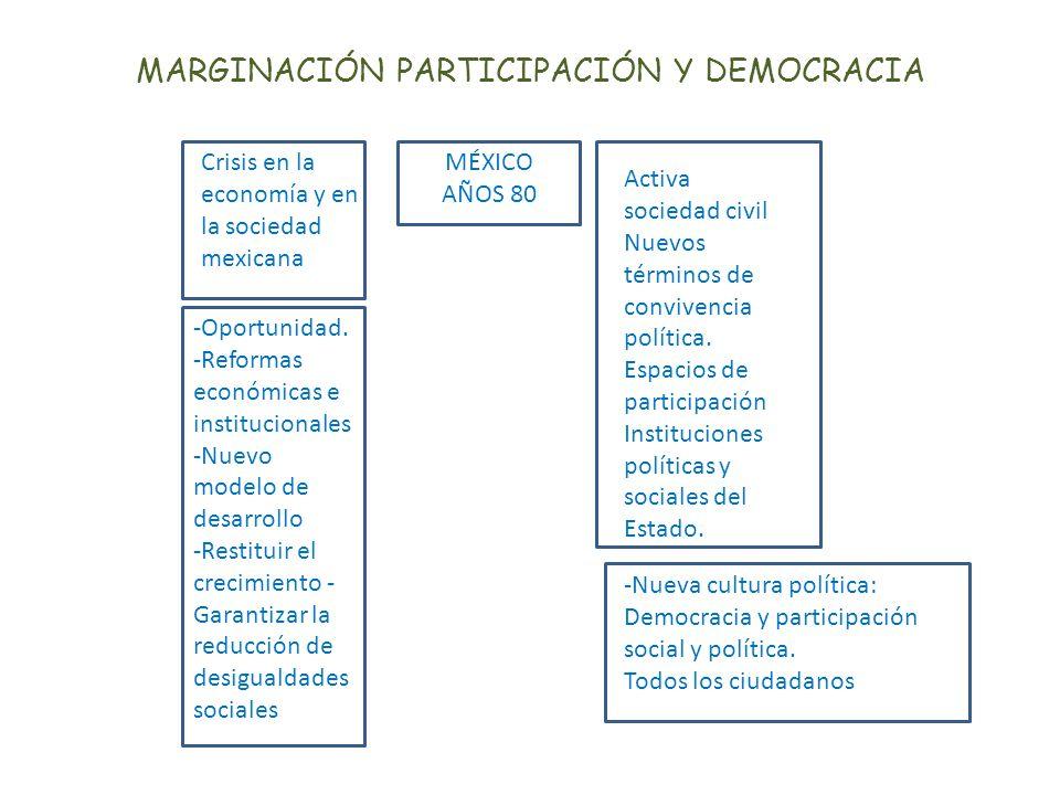 MARGINACIÓN PARTICIPACIÓN Y DEMOCRACIA
