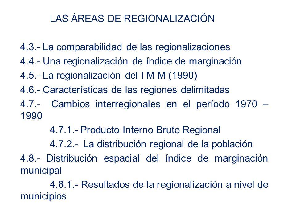 LAS ÁREAS DE REGIONALIZACIÓN