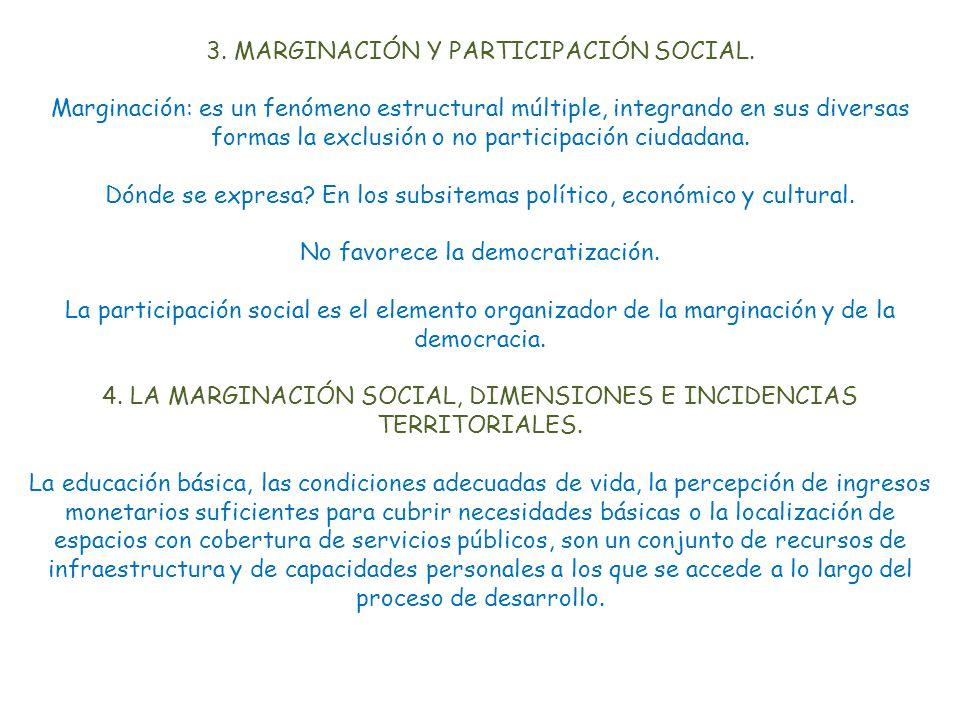 3. MARGINACIÓN Y PARTICIPACIÓN SOCIAL