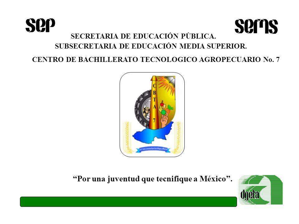 Por una juventud que tecnifique a México .