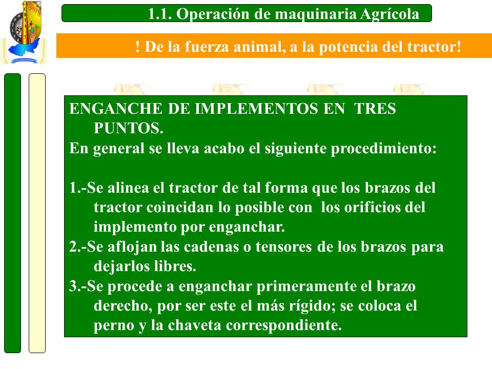 1.1. Operación de maquinaria Agrícola