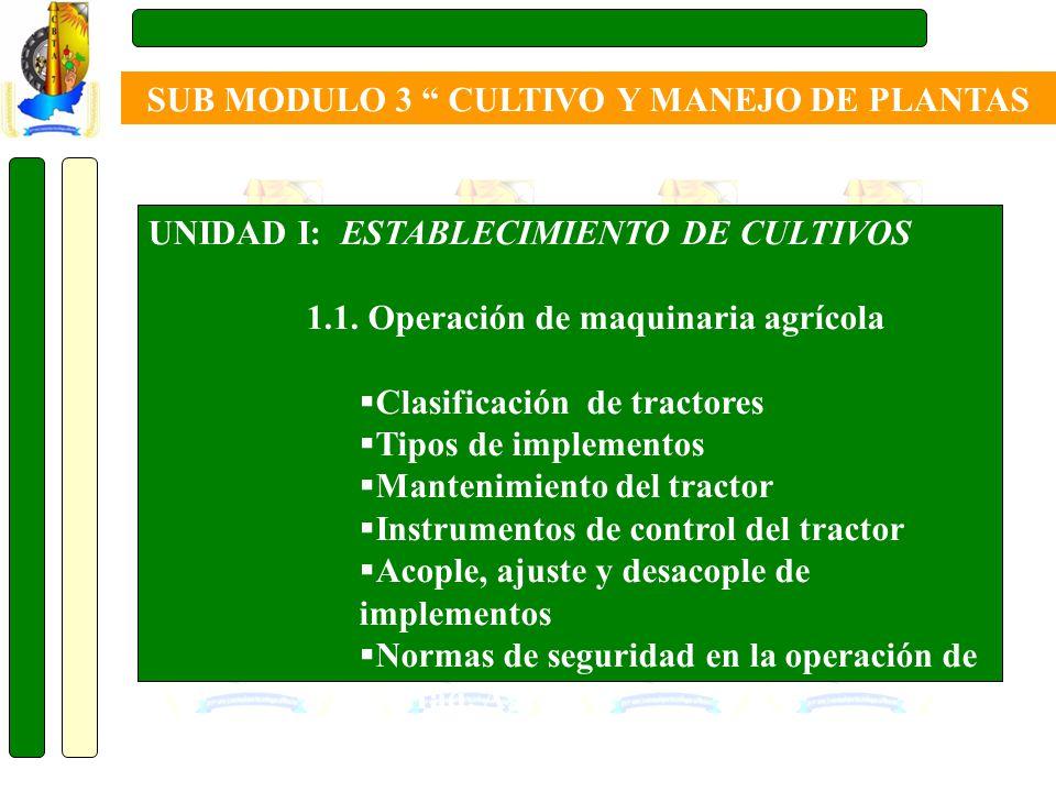 SUB MODULO 3 CULTIVO Y MANEJO DE PLANTAS