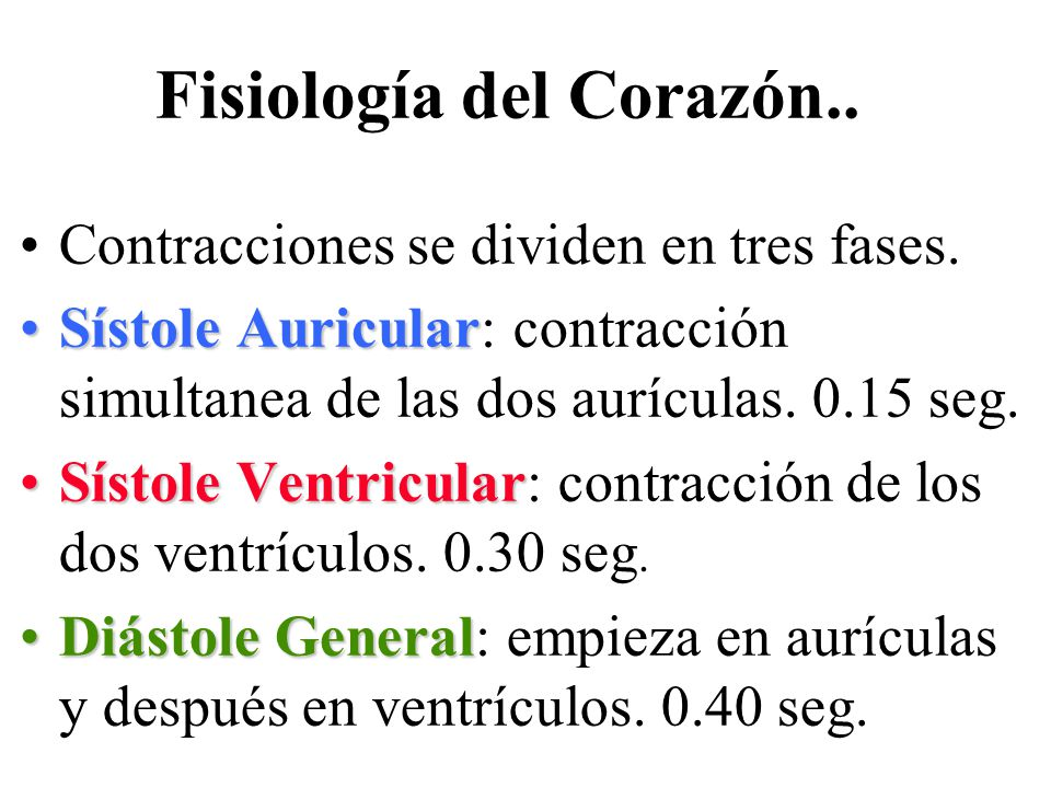 Fisiología del Corazón..