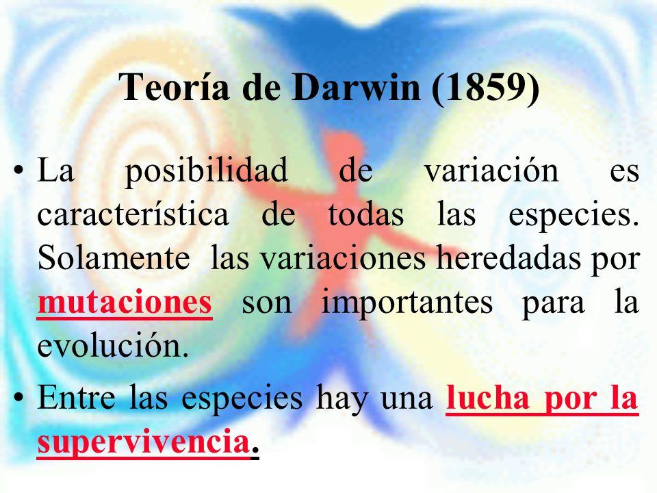 Teoría de Darwin (1859)