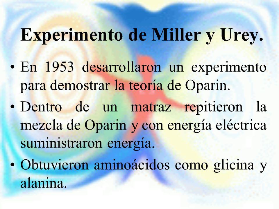 Experimento de Miller y Urey.