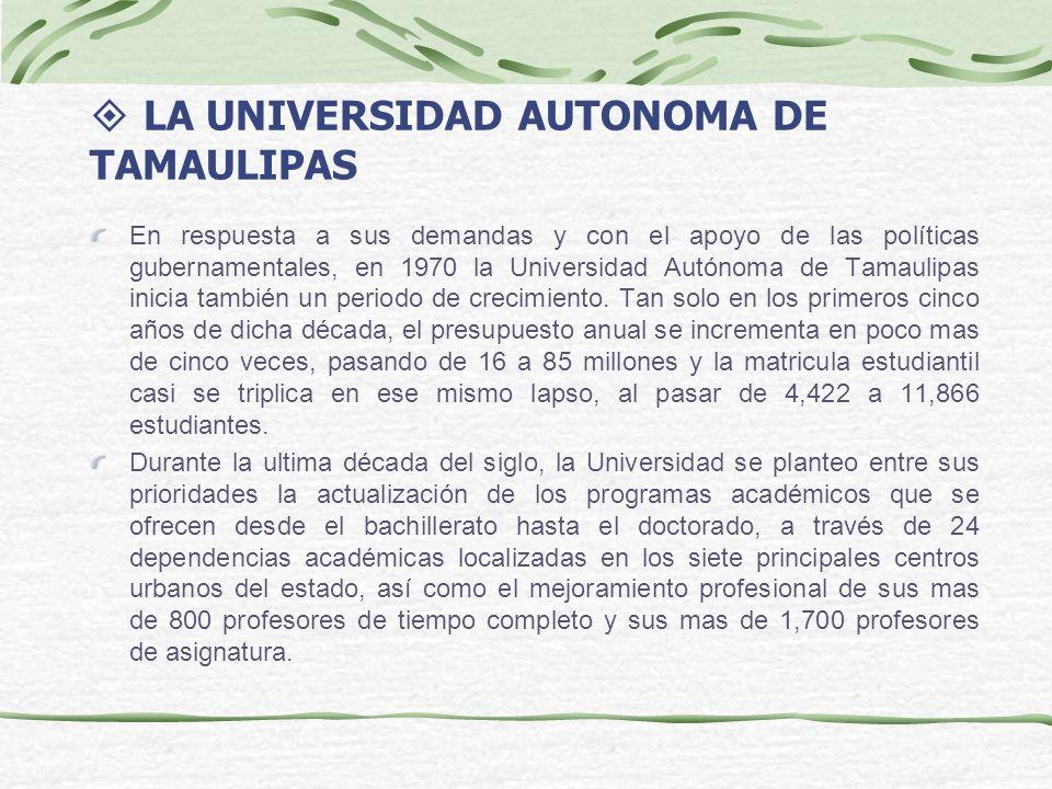 LA UNIVERSIDAD AUTONOMA DE TAMAULIPAS