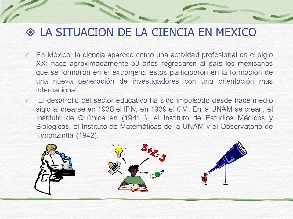 LA SITUACION DE LA CIENCIA EN MEXICO
