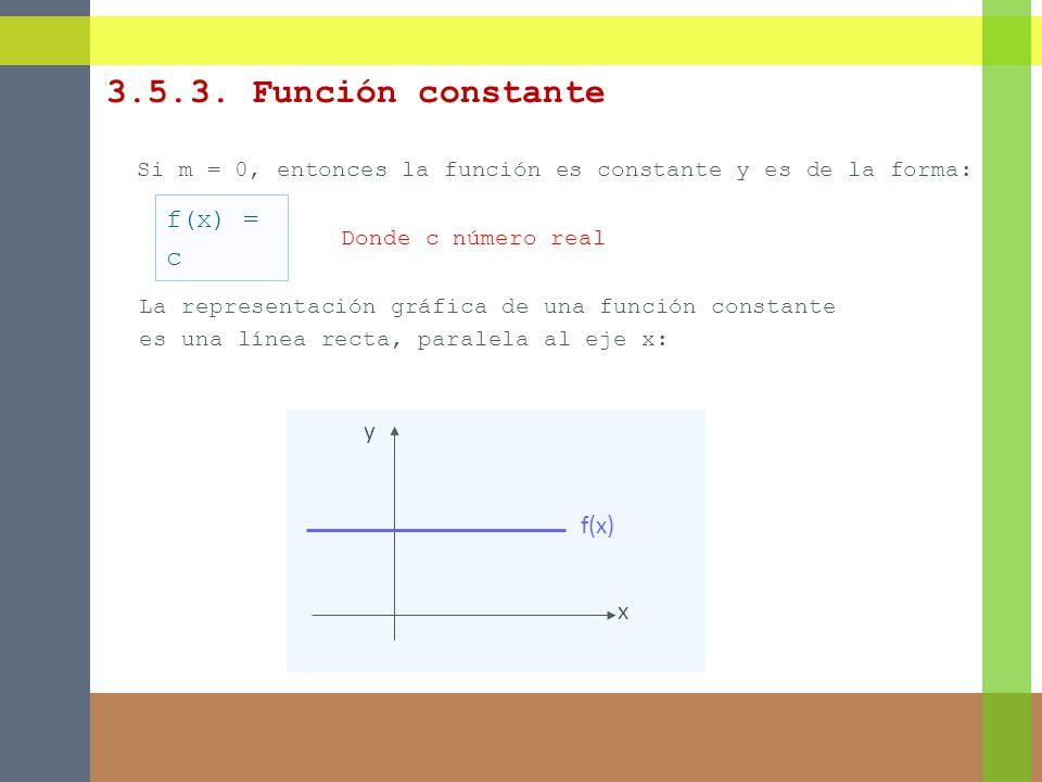 3.5.3. Función constante f(x) = c y f(x) x