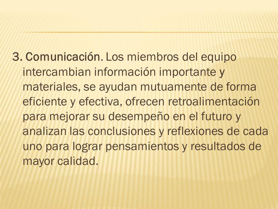 3. Comunicación.