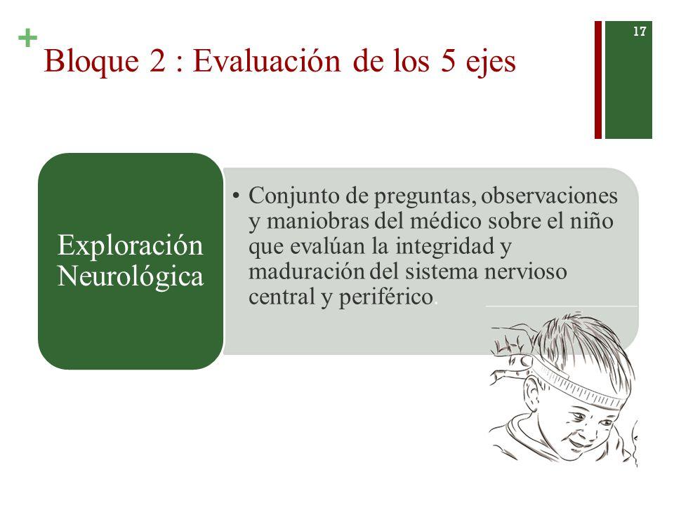 Bloque 2 : Evaluación de los 5 ejes