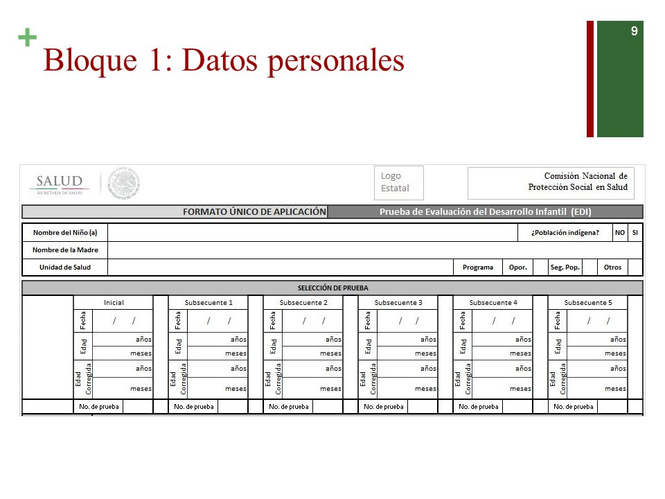 Bloque 1: Datos personales