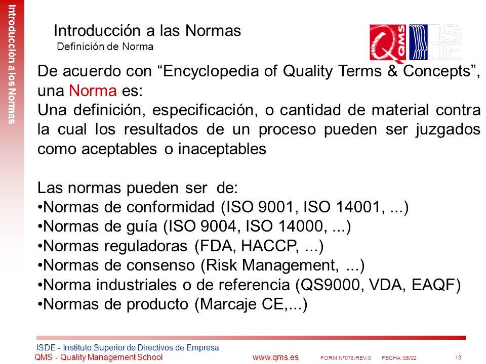 Introducción a las Normas Definición de Norma