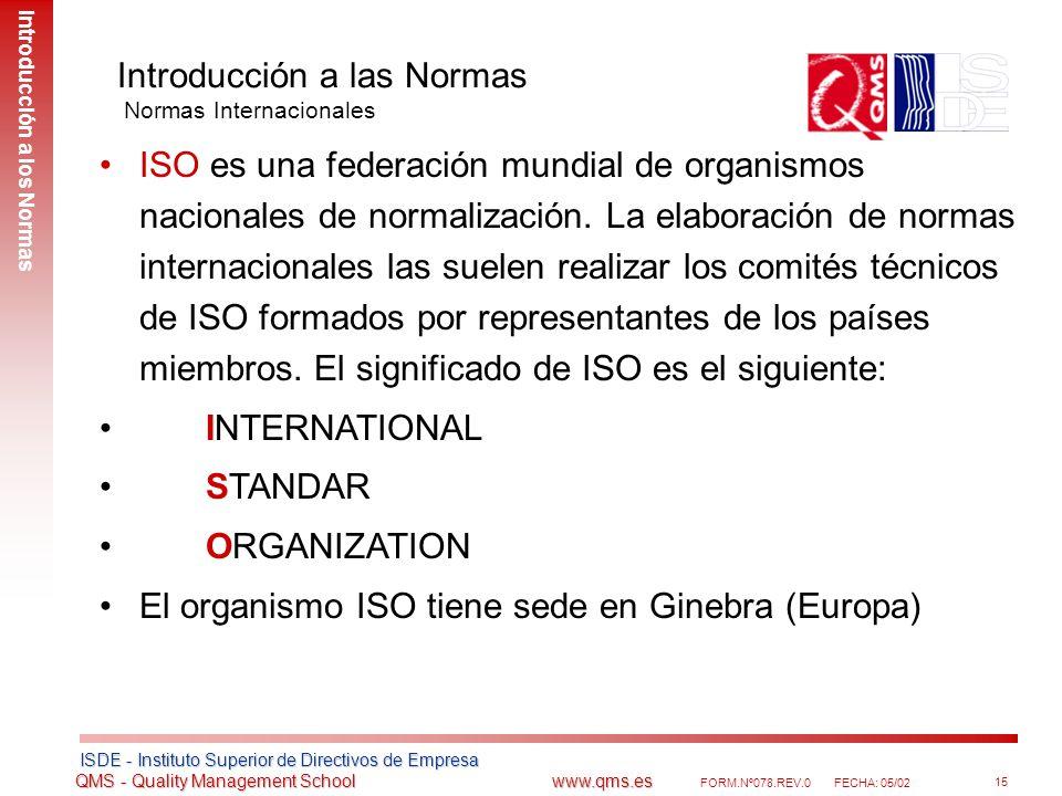 Introducción a las Normas Normas Internacionales