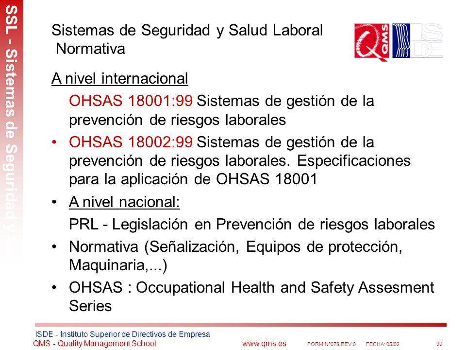 Sistemas de Seguridad y Salud Laboral Normativa