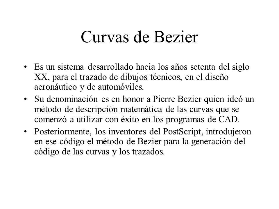 Curvas de Bezier