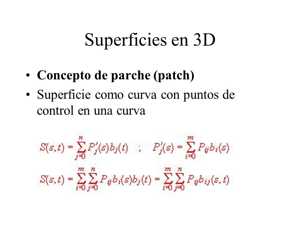 Superficies en 3D Concepto de parche (patch)