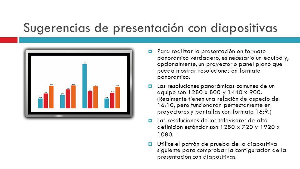 Sugerencias de presentación con diapositivas