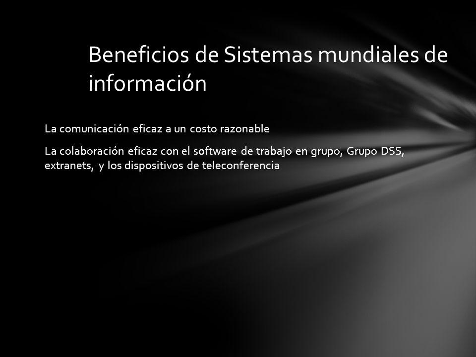 Beneficios de Sistemas mundiales de información