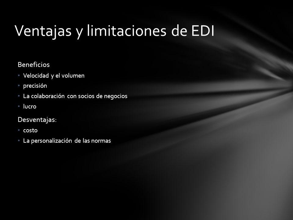 Ventajas y limitaciones de EDI