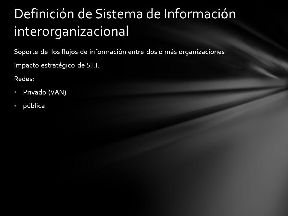 Definición de Sistema de Información interorganizacional