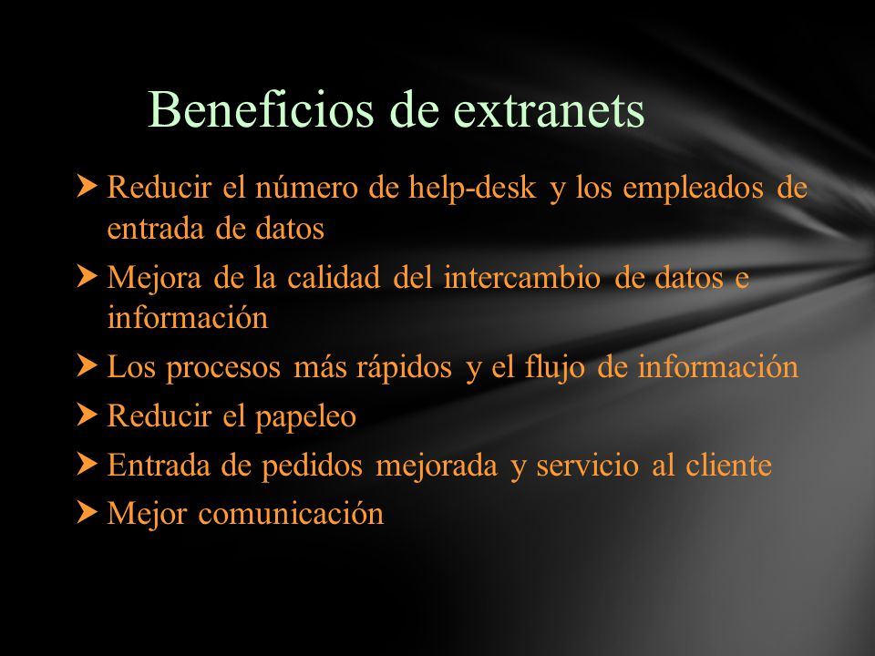 Beneficios de extranets