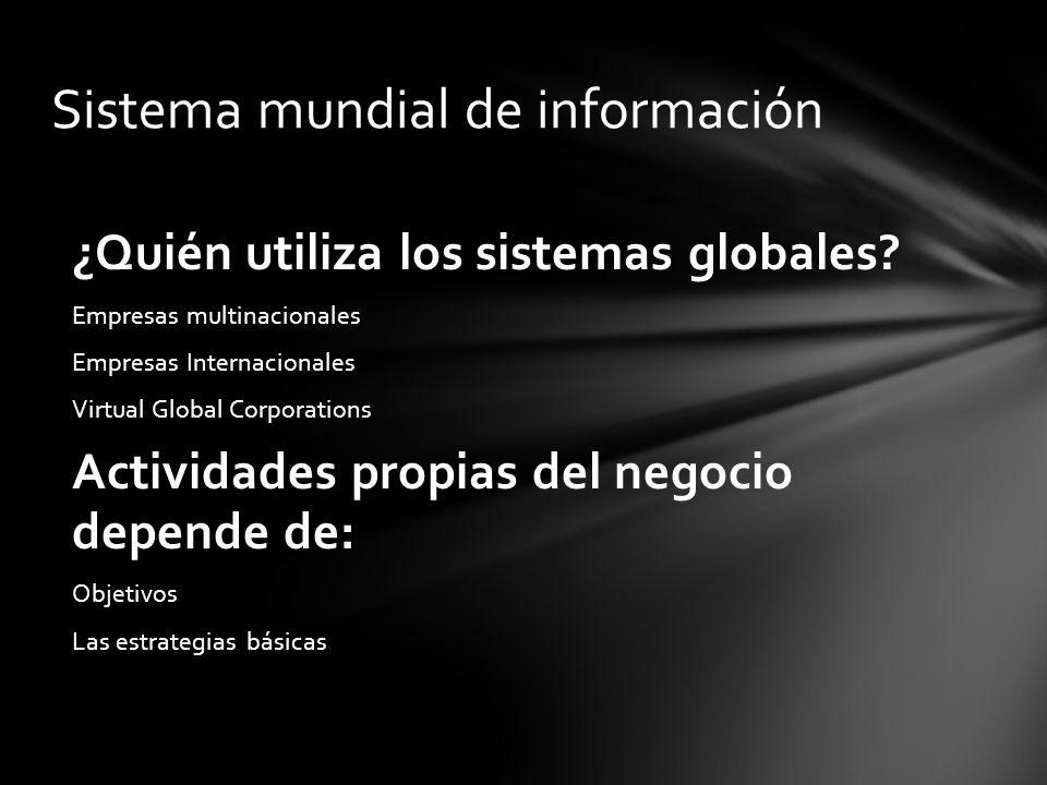 Sistema mundial de información