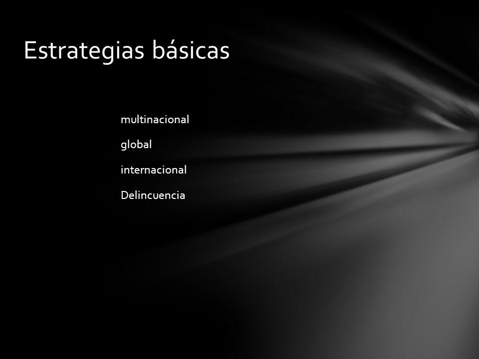 Estrategias básicas multinacional global internacional Delincuencia