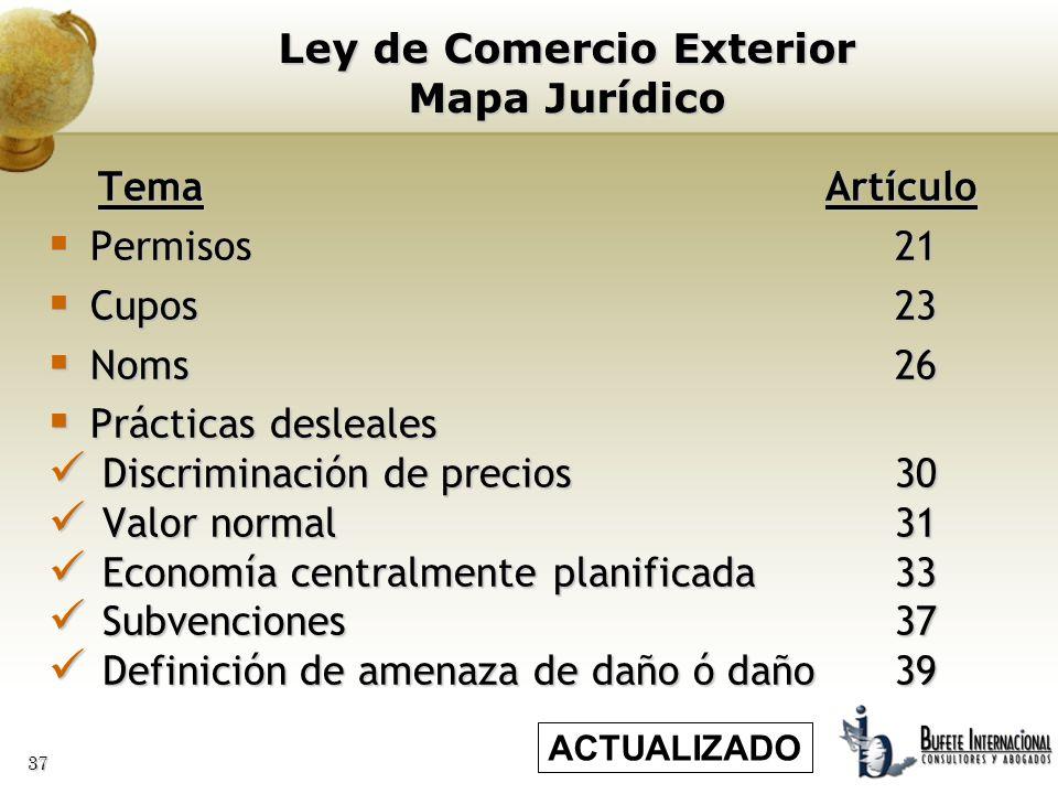Ley de Comercio Exterior Mapa Jurídico