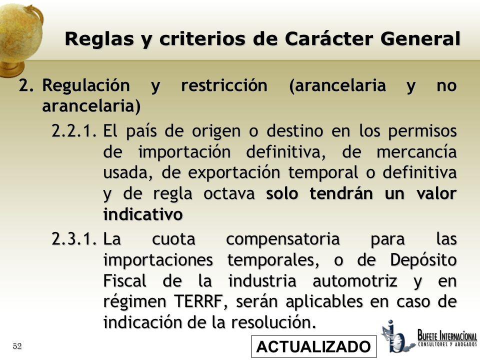 Ley de Comercio Exterior, sus reglas y criterios