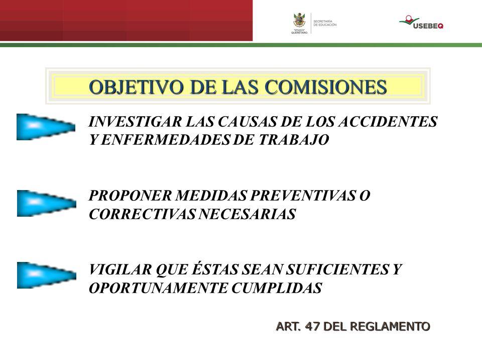 OBJETIVO DE LAS COMISIONES