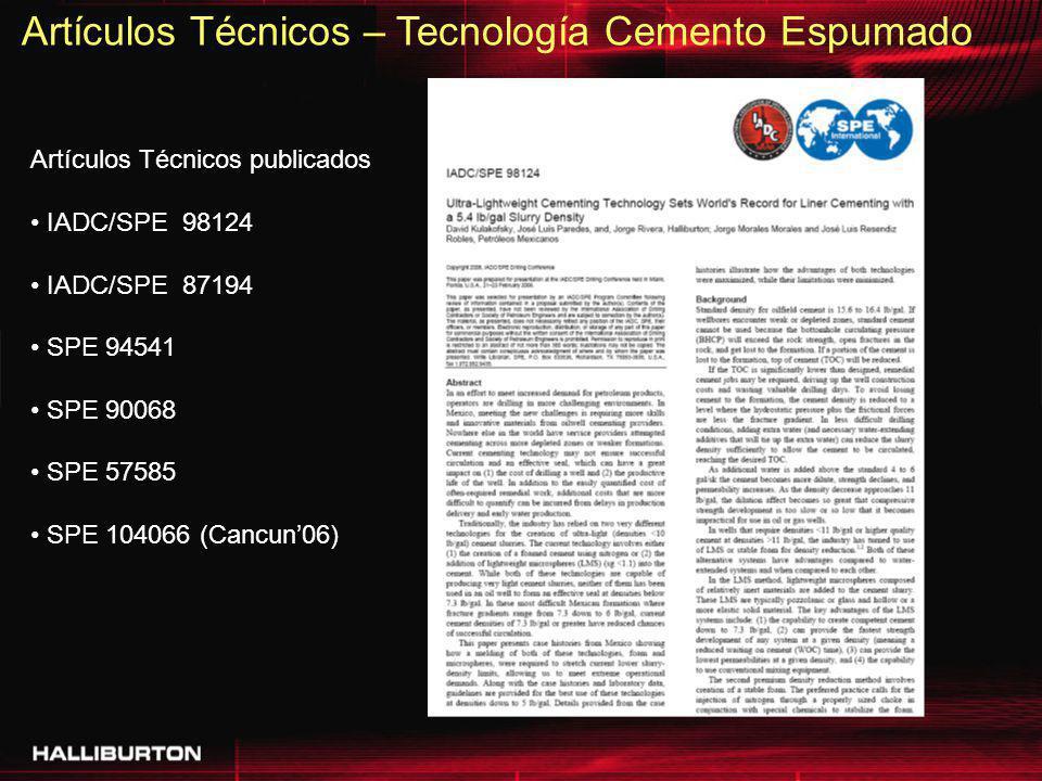 Artículos Técnicos – Tecnología Cemento Espumado