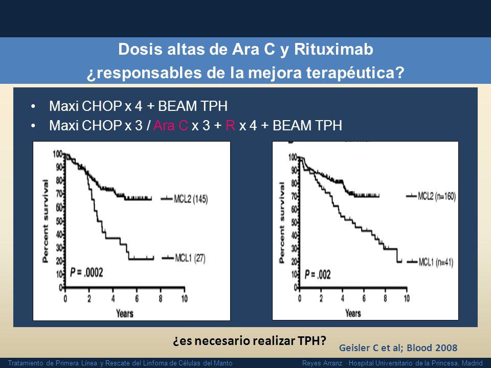 Dosis altas de Ara C y Rituximab