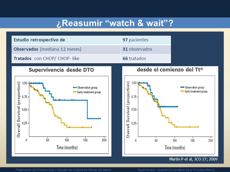 ¿Reasumir watch & wait