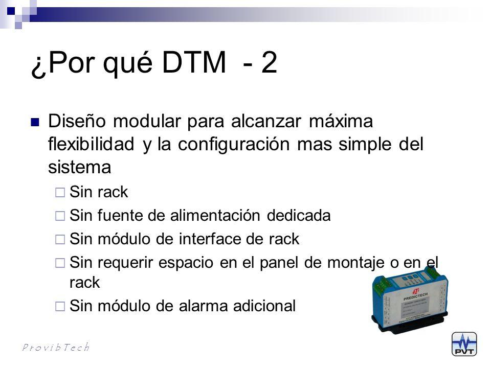 ¿Por qué DTM - 2 Diseño modular para alcanzar máxima flexibilidad y la configuración mas simple del sistema.