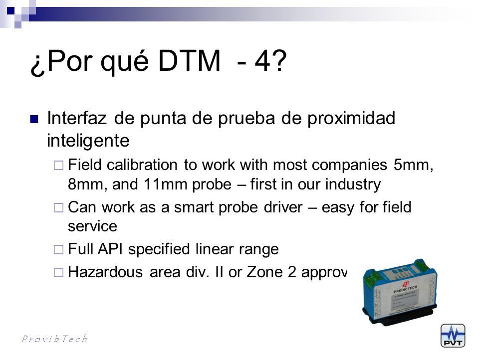 ¿Por qué DTM - 4 Interfaz de punta de prueba de proximidad inteligente.