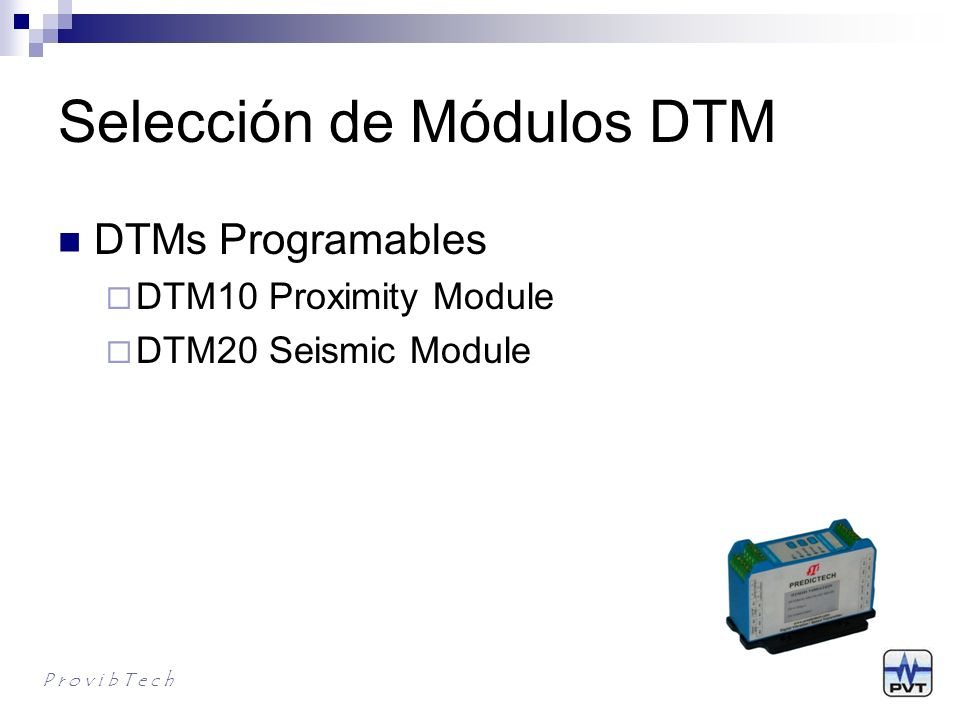 Selección de Módulos DTM