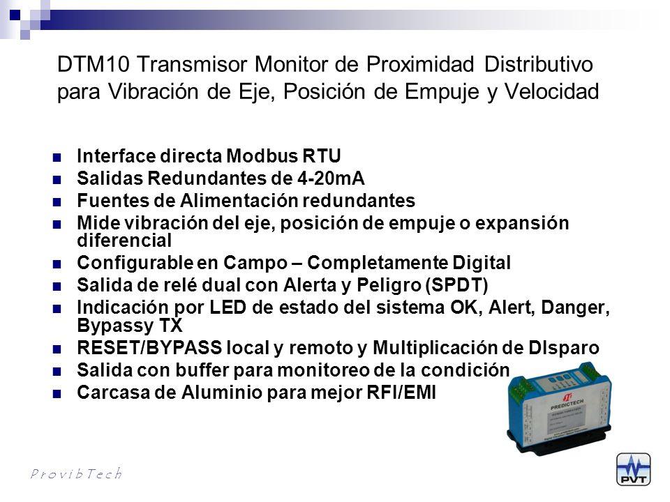 DTM10 Transmisor Monitor de Proximidad Distributivo para Vibración de Eje, Posición de Empuje y Velocidad