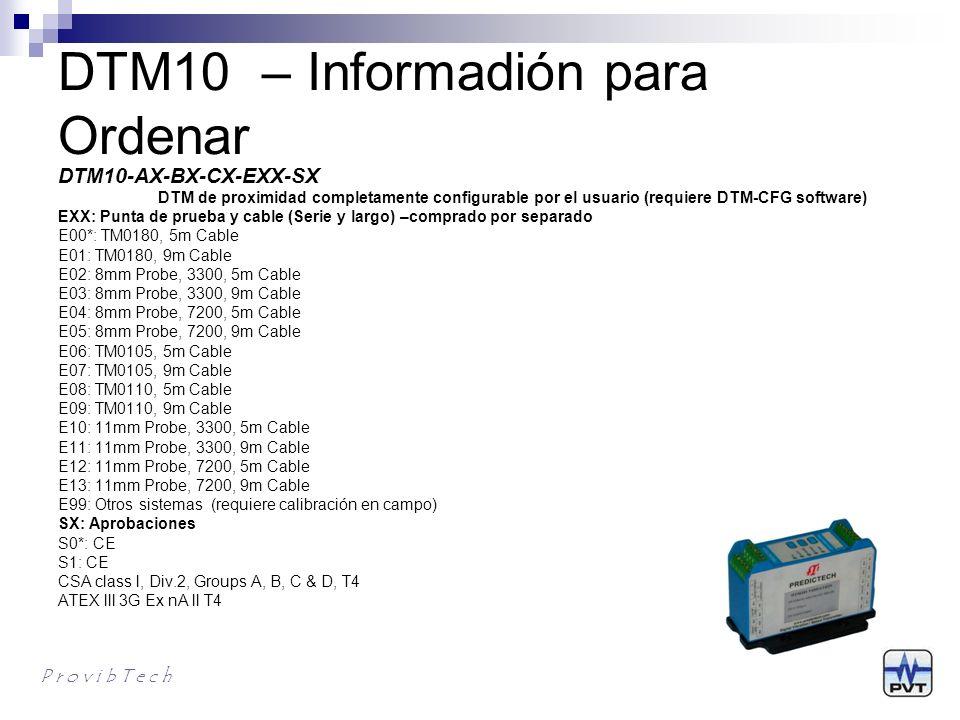 DTM10 – Informadión para Ordenar