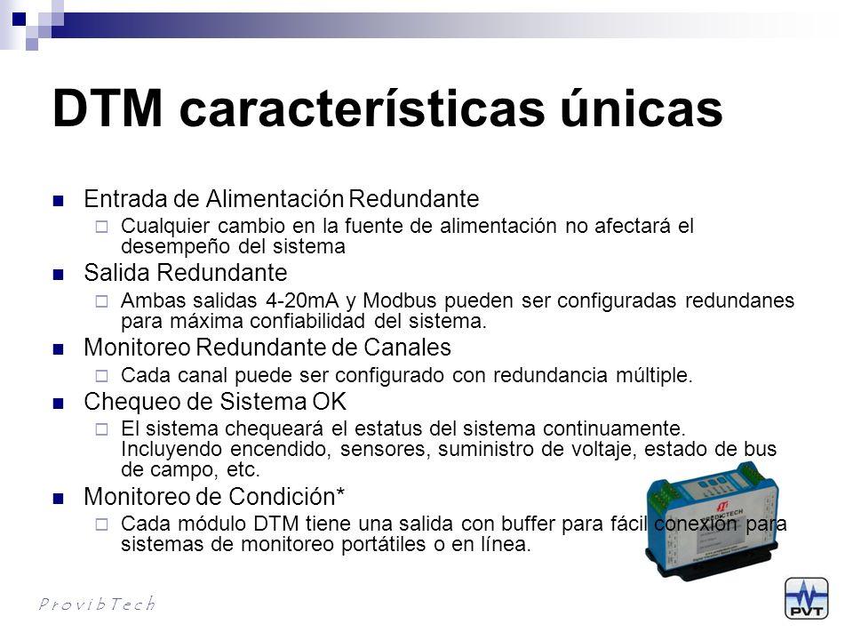 DTM características únicas