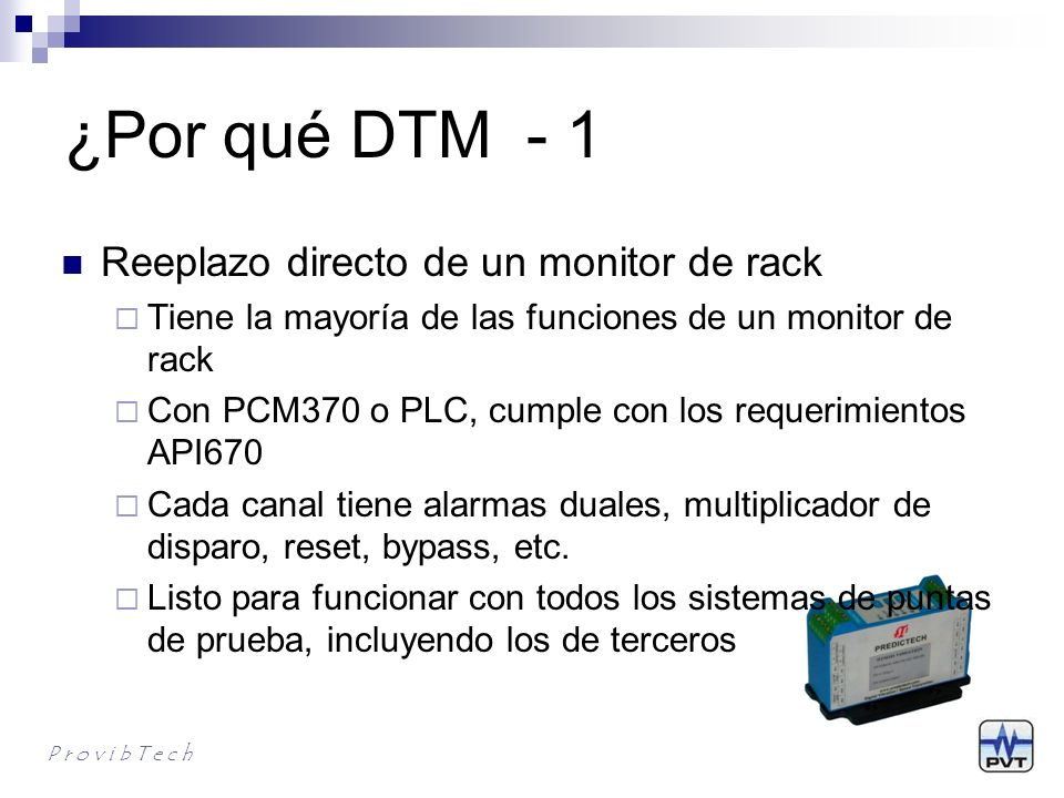 ¿Por qué DTM - 1 Reeplazo directo de un monitor de rack