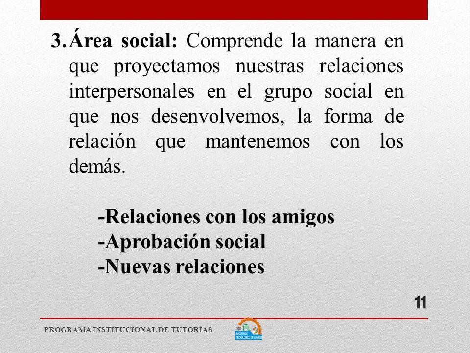 -Relaciones con los amigos -Aprobación social -Nuevas relaciones