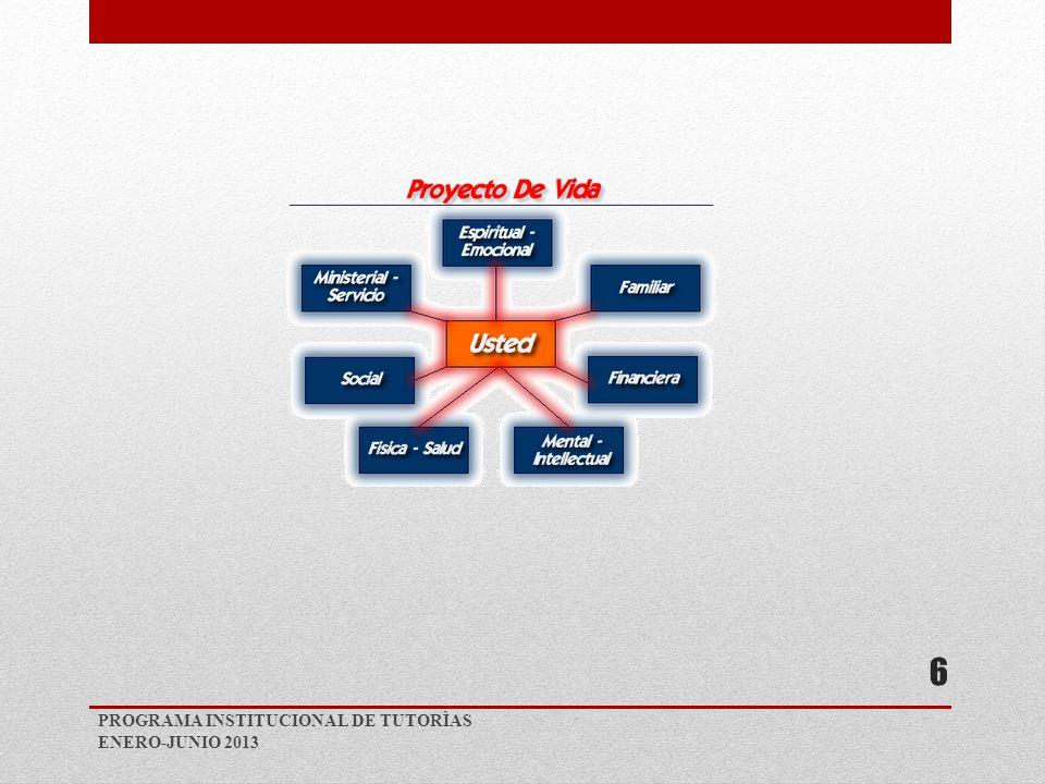 PROGRAMA INSTITUCIONAL DE TUTORÌAS ENERO-JUNIO 2013