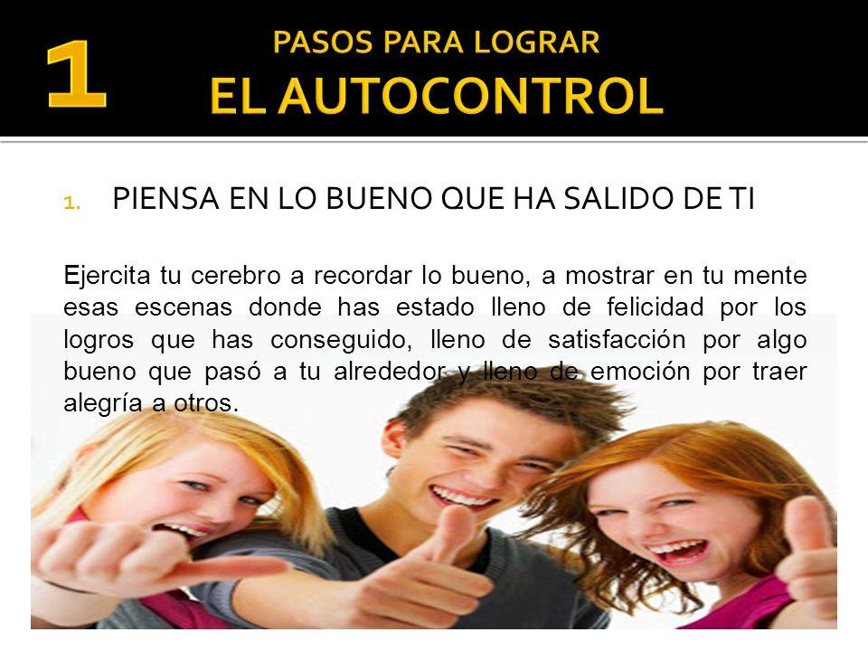 PASOS PARA LOGRAR EL AUTOCONTROL