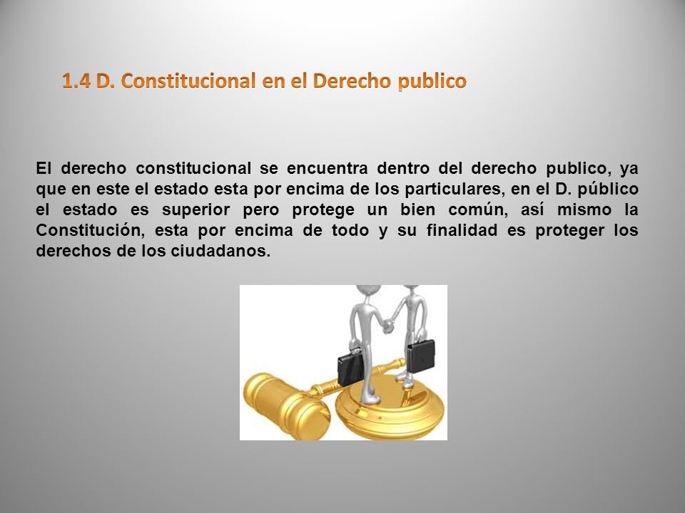 1.4 D. Constitucional en el Derecho publico