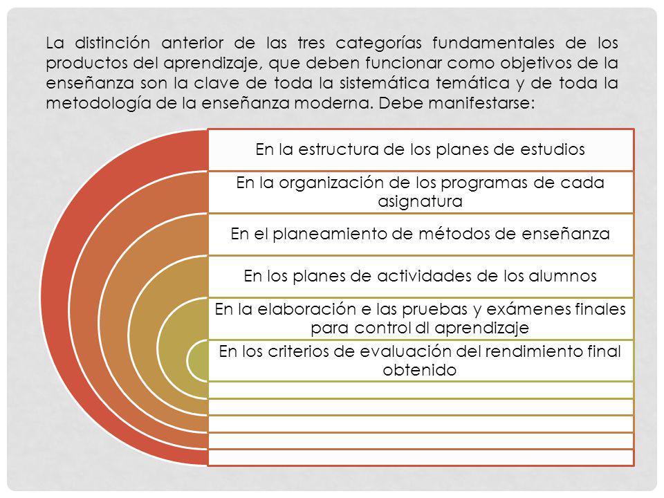 En la estructura de los planes de estudios