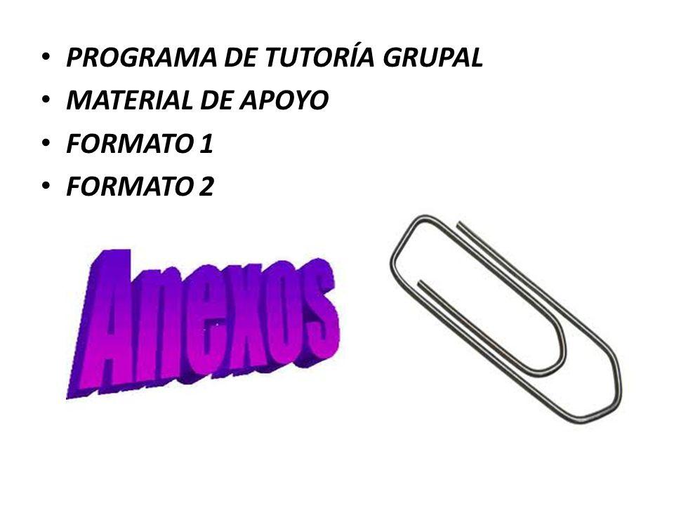 PROGRAMA DE TUTORÍA GRUPAL