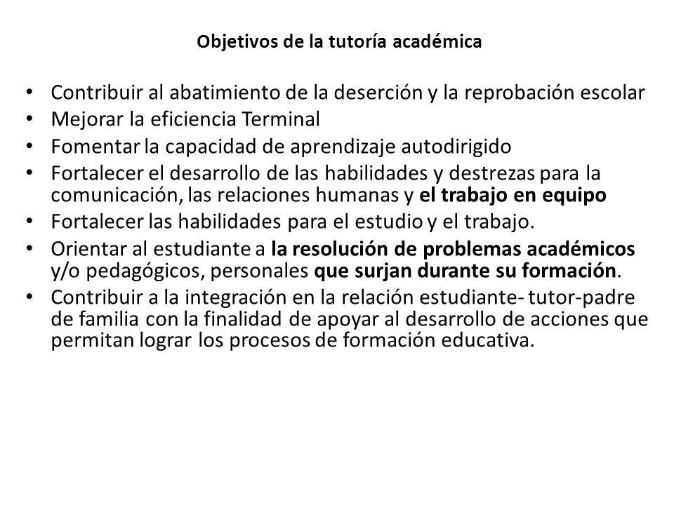 Objetivos de la tutoría académica