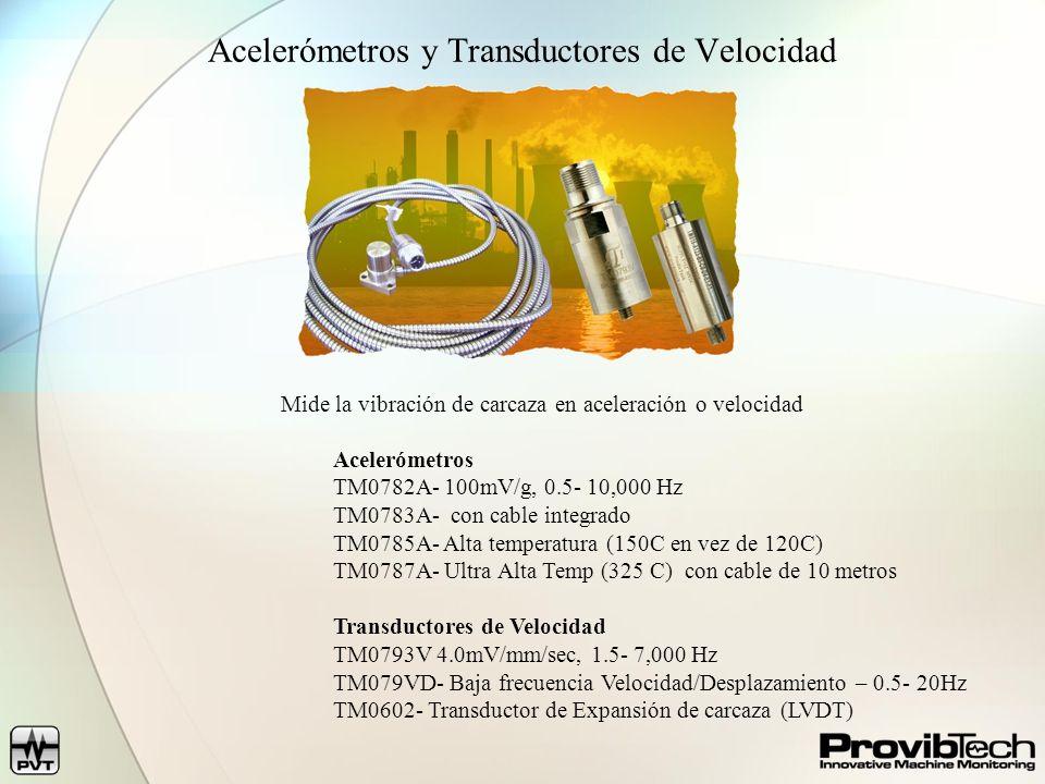 Acelerómetros y Transductores de Velocidad