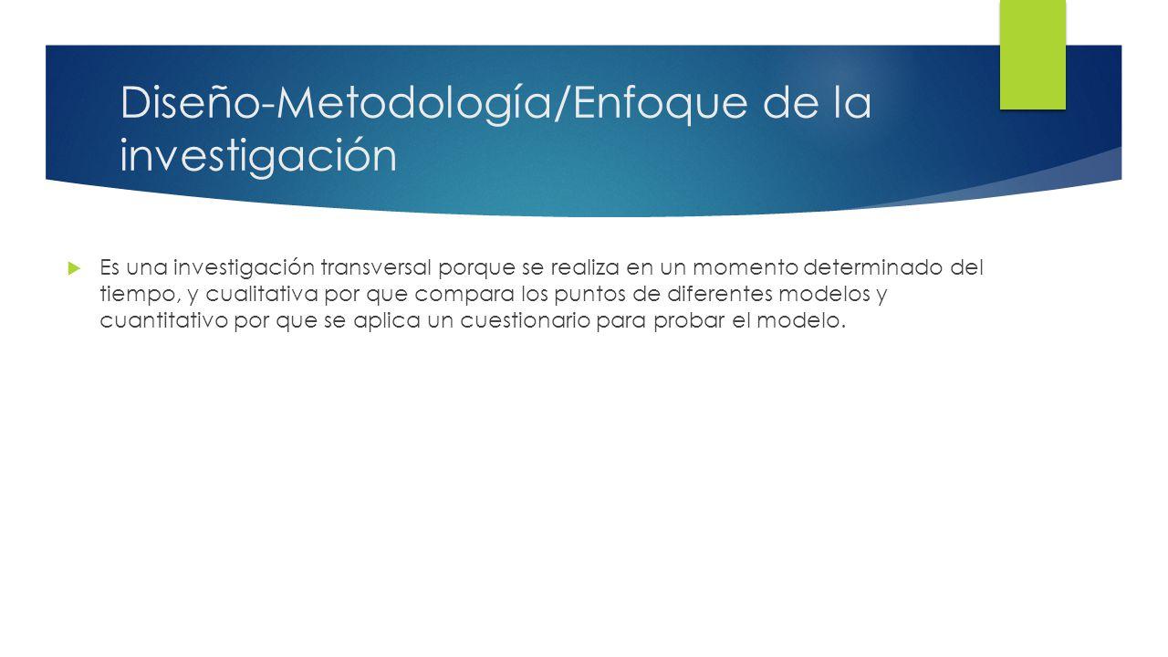 Diseño-Metodología/Enfoque de la investigación